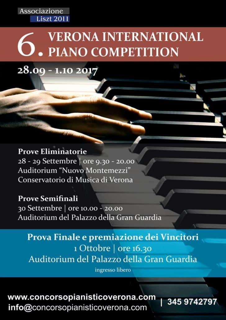 biancheria Subtropicale Al di fuori  Concluso il 6° Concorso Internazionale Pianistico Città di Verona • Le  Salon Musical