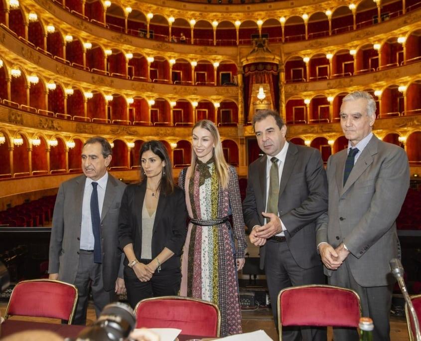 Carlo Fuortes, Virginia Raggi, Eleonora Abbagnato, Daniele Gatti, Alessio Vlad
