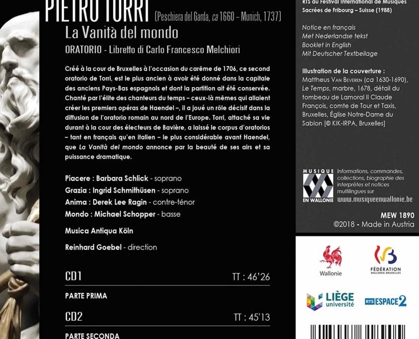 Pietro Torri, La Vanità del mondo