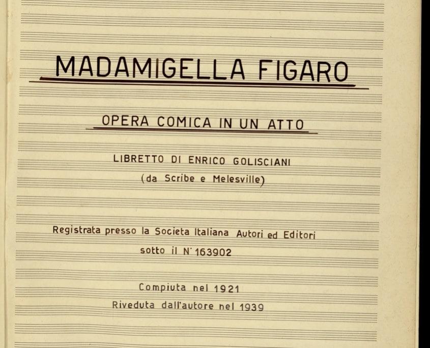 Michele Eulambio, Madamigella Figaro